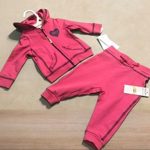 Juicy Couture Girls Pink 2pcs set 3-6 months